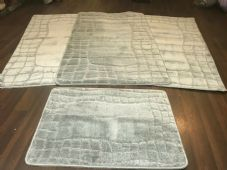 ROMANY GYPSY WASHABLES SETS OF TOURER SIZE 67X110CM MATS-RUGS SILVER-GREY